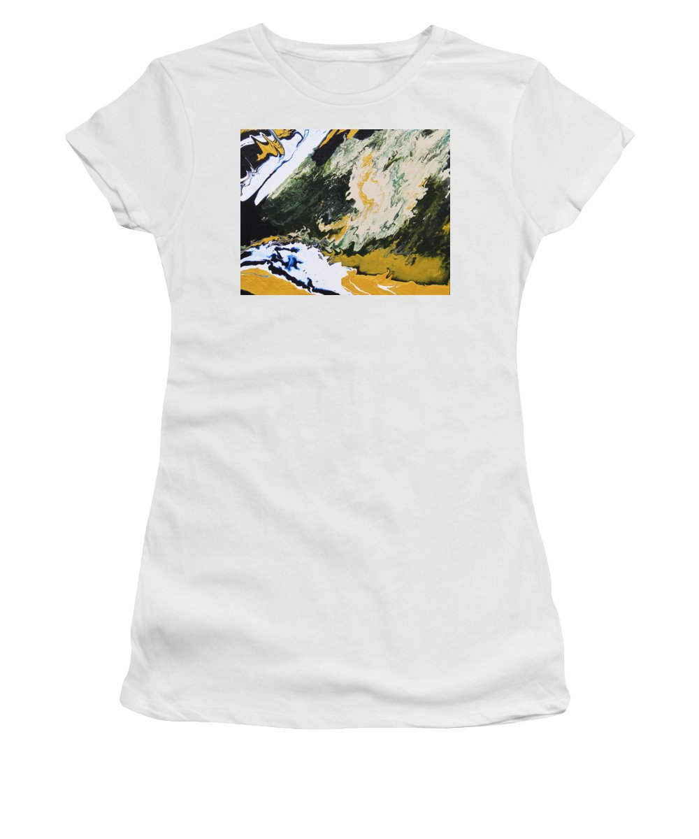 Fusionart Women's T-Shirt (Athletic Fit) featuring the painting Primeval by Ralph White
