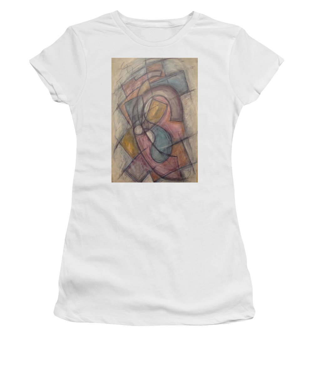 Pure Abstract Women's T-Shirt (Athletic Fit) featuring the painting Propeller by W Todd Durrance