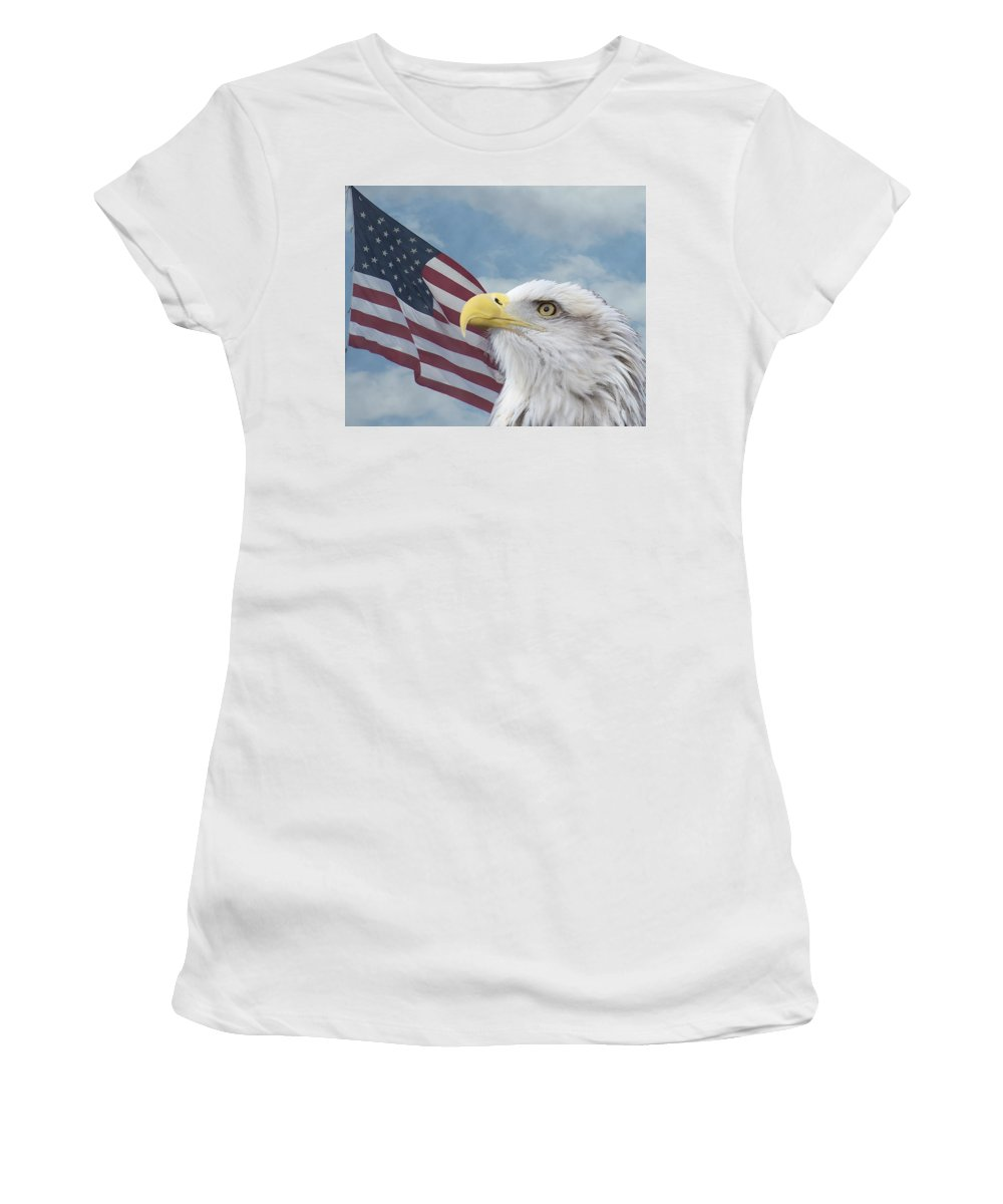 Birds Women's T-Shirt (Athletic Fit) featuring the photograph Proud by Ernie Echols
