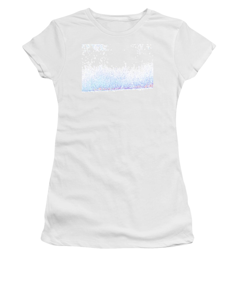 Abstract Women's T-Shirt (Athletic Fit) featuring the digital art Pueblo Downtown--river Grasses 4 by Lenore Senior