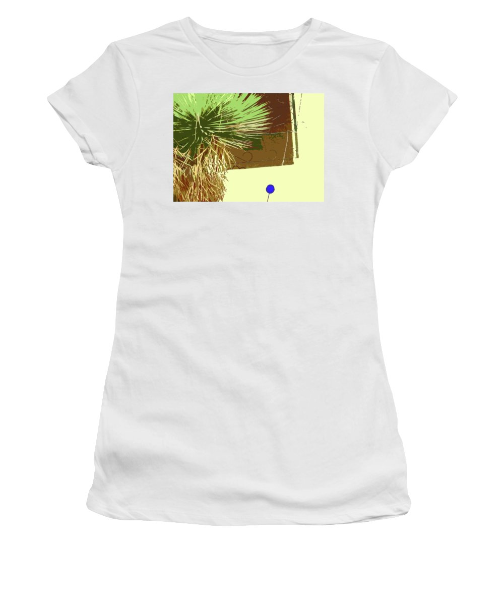 Abstract Women's T-Shirt (Athletic Fit) featuring the digital art Pueblo Hacienda Design by Lenore Senior