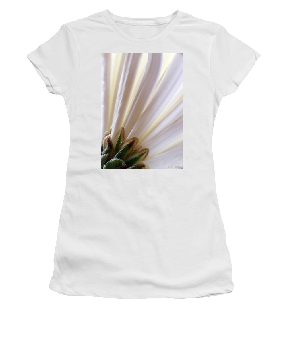 Macro Women's T-Shirt (Athletic Fit) featuring the photograph Pure by Lauren Radke