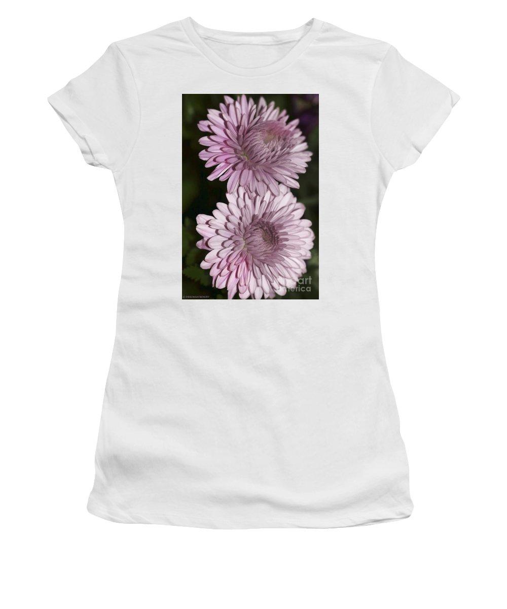 Flowers Women's T-Shirt (Athletic Fit) featuring the photograph Purple Duo by Deborah Benoit