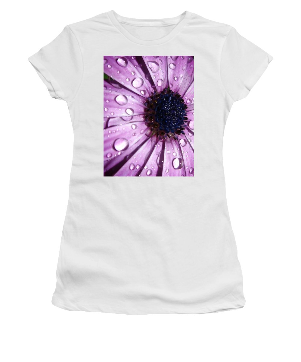 Purple Women's T-Shirt (Athletic Fit) featuring the photograph Purple Rain by Marla McFall