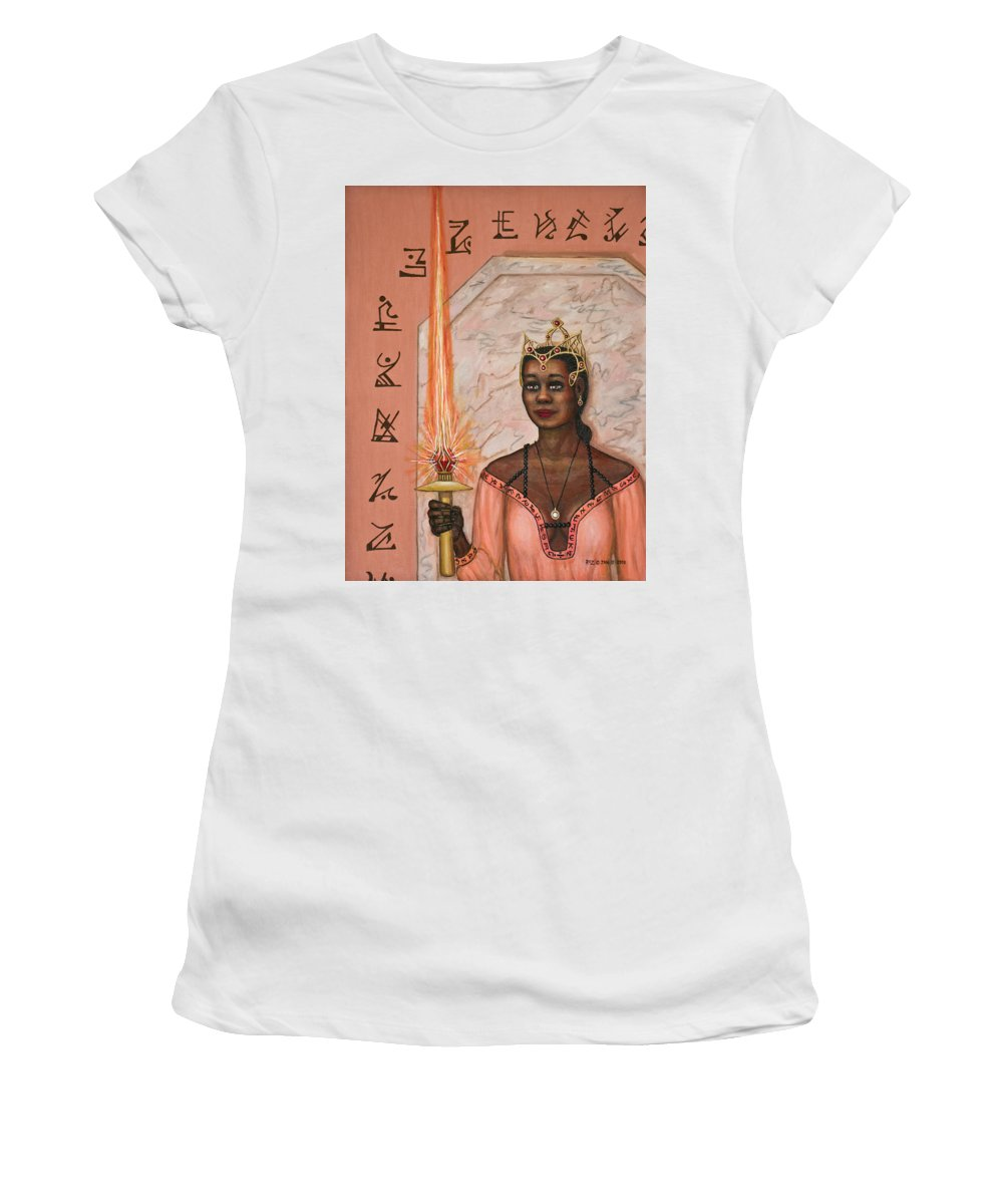 Fantasy Women's T-Shirt (Athletic Fit) featuring the painting Queens New Toy by Roz Eve