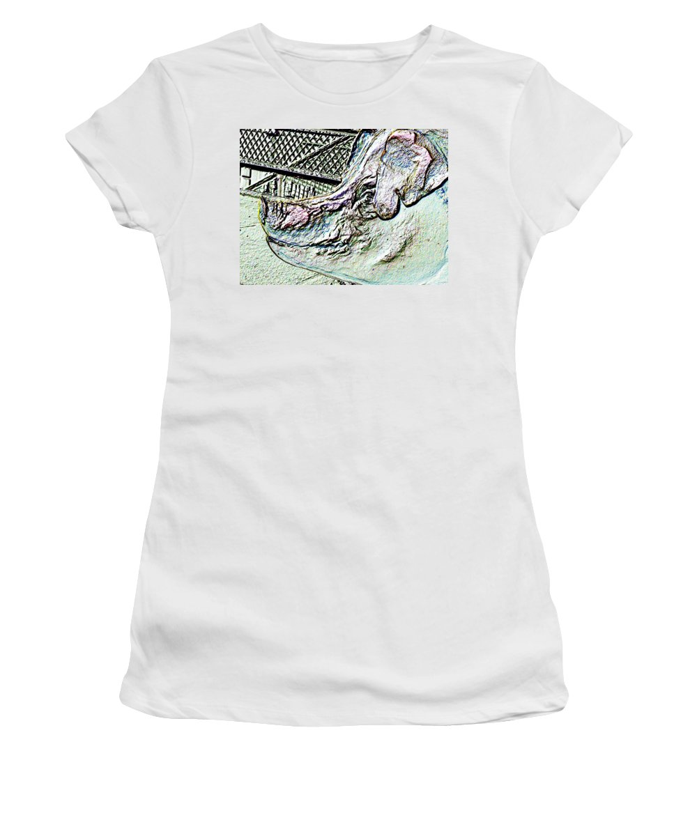 Seattle Women's T-Shirt (Athletic Fit) featuring the photograph Rachael The Market Pig by Tim Allen