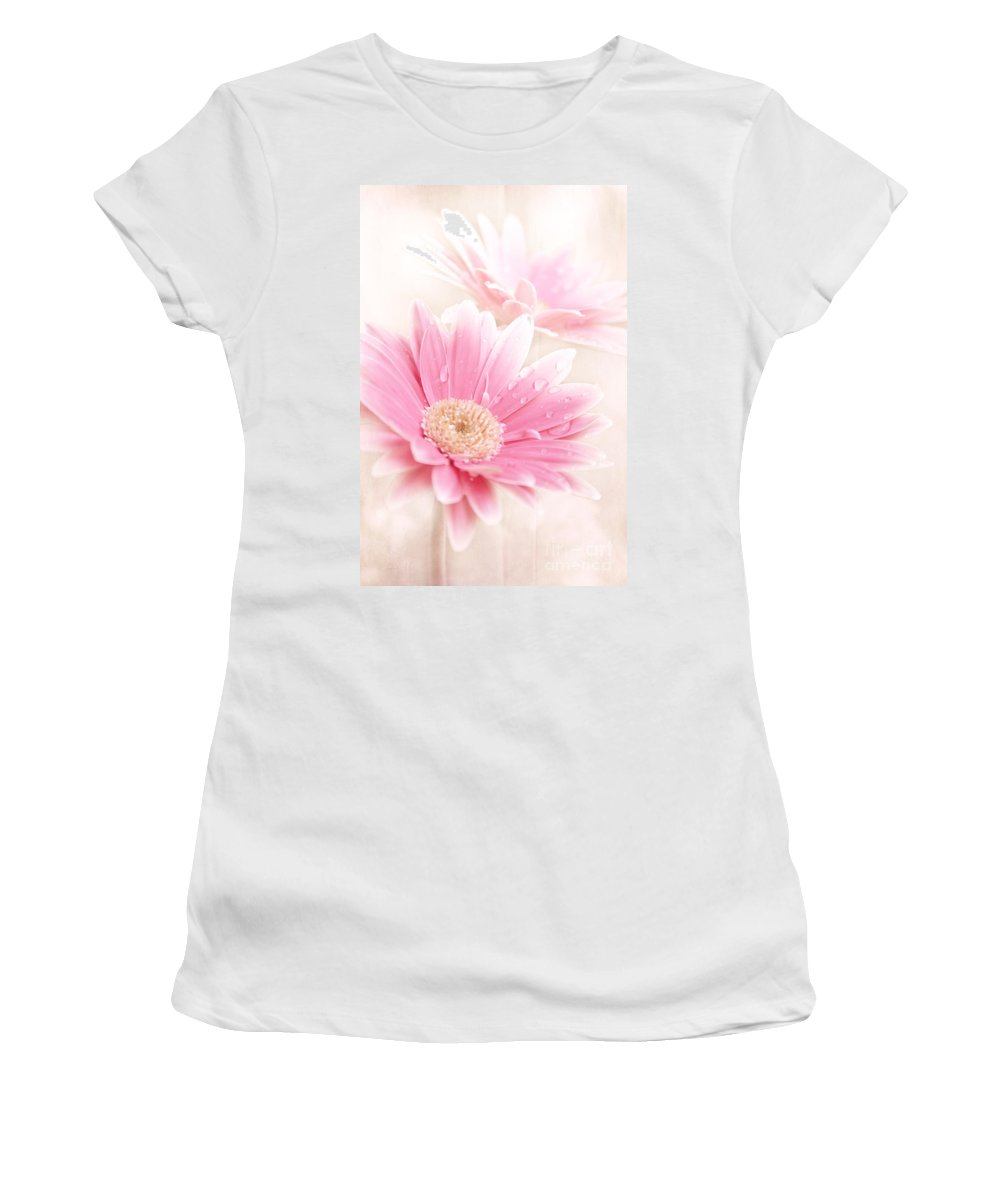 Raining Petals Women's T-Shirt featuring the photograph Raining Petals by Sharon Mau
