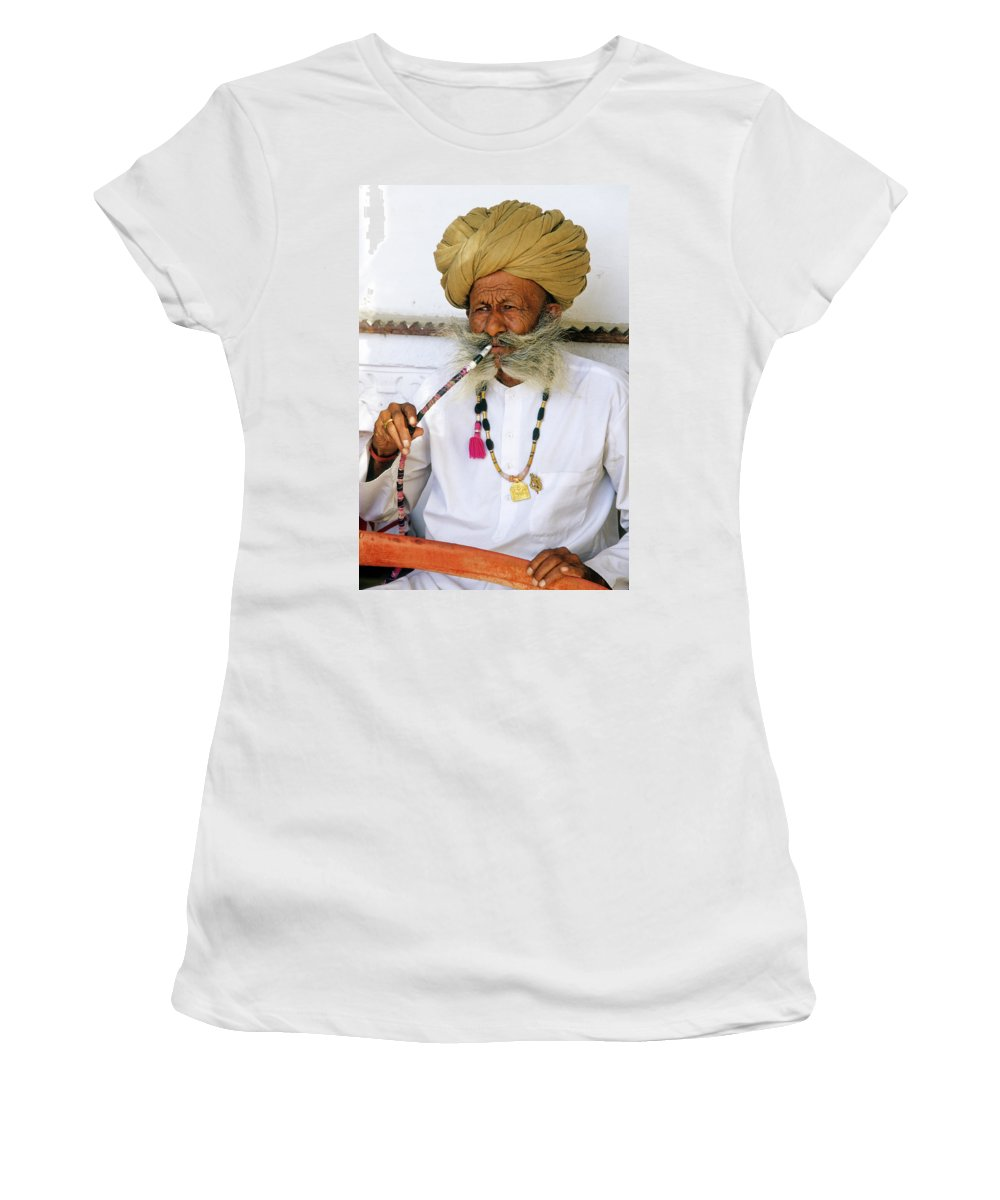 India Women's T-Shirt featuring the photograph Rajasthani Elder by Michele Burgess