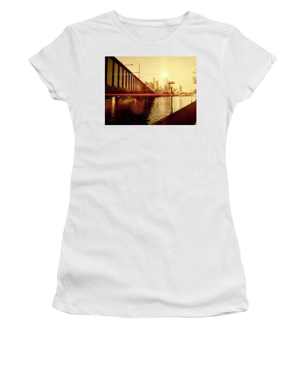 Bridge Women's T-Shirt featuring the photograph Reach by Douglas Barnard