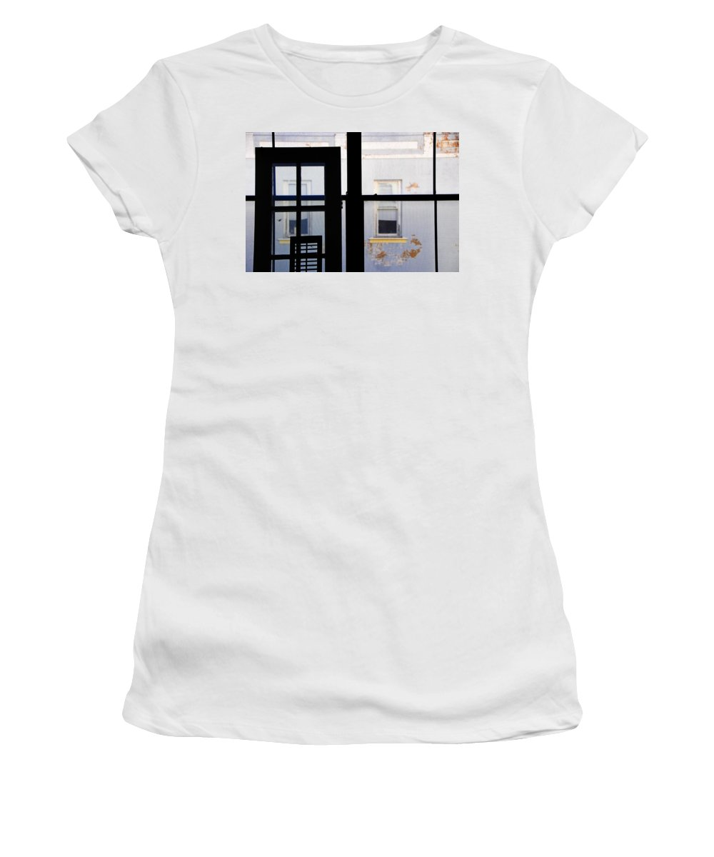 Architecture Women's T-Shirt (Athletic Fit) featuring the photograph Rear Window 3 by Skip Hunt