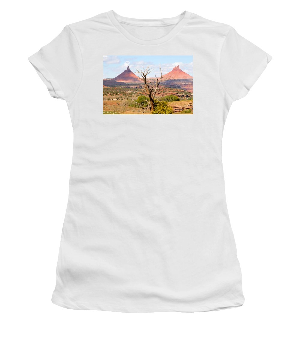Buttes Women's T-Shirt featuring the photograph Red Buttes by David Lee Thompson