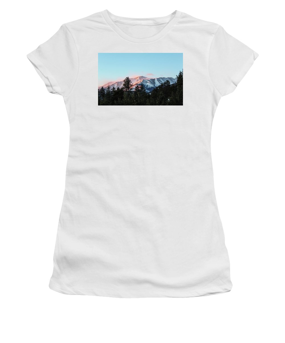 Mt Princeton Women's T-Shirt (Athletic Fit) featuring the photograph Red Flagging by Joseph Holub
