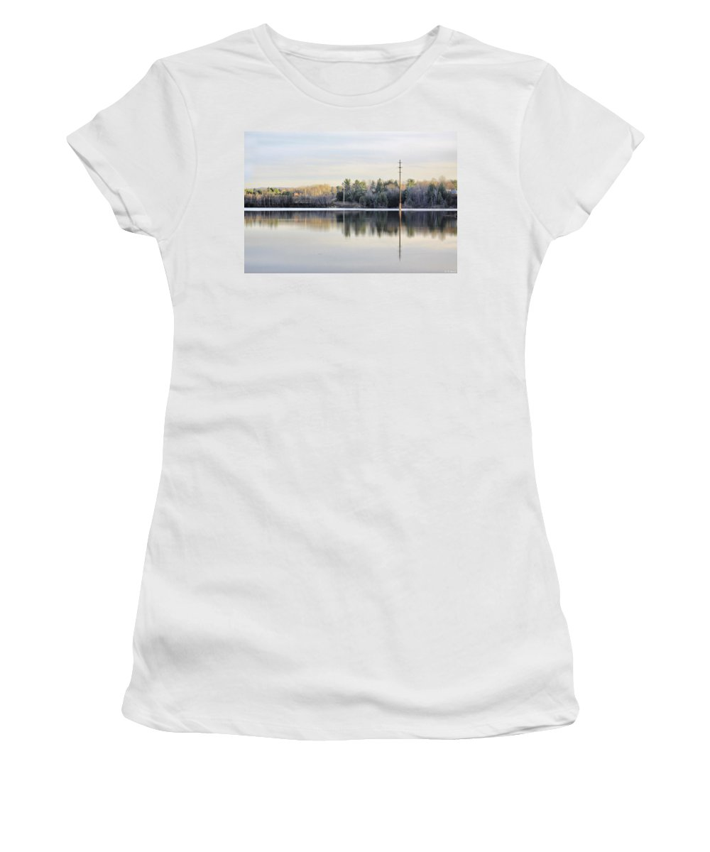 Water Women's T-Shirt featuring the photograph Reflections Across The Water by Deborah Benoit
