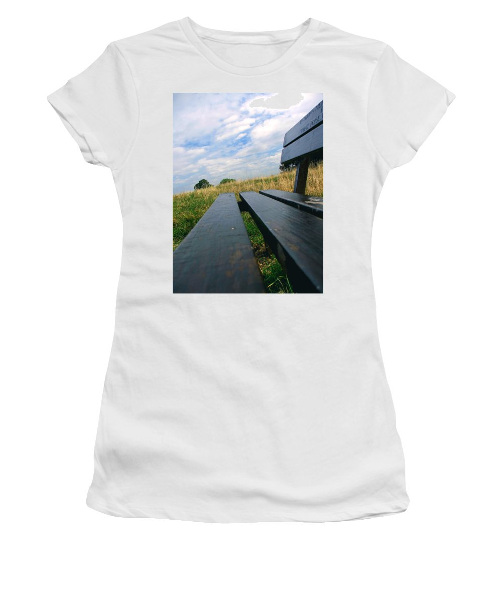 Sympathy Women's T-Shirt featuring the photograph Remembrance by Heather Lennox