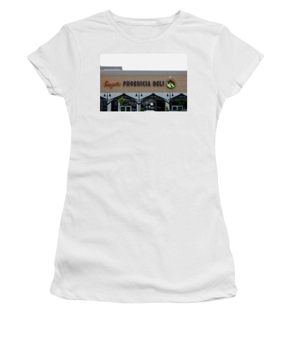 Restaurant Women's T-Shirt (Athletic Fit) featuring the photograph Restaurant by Lorna Maza