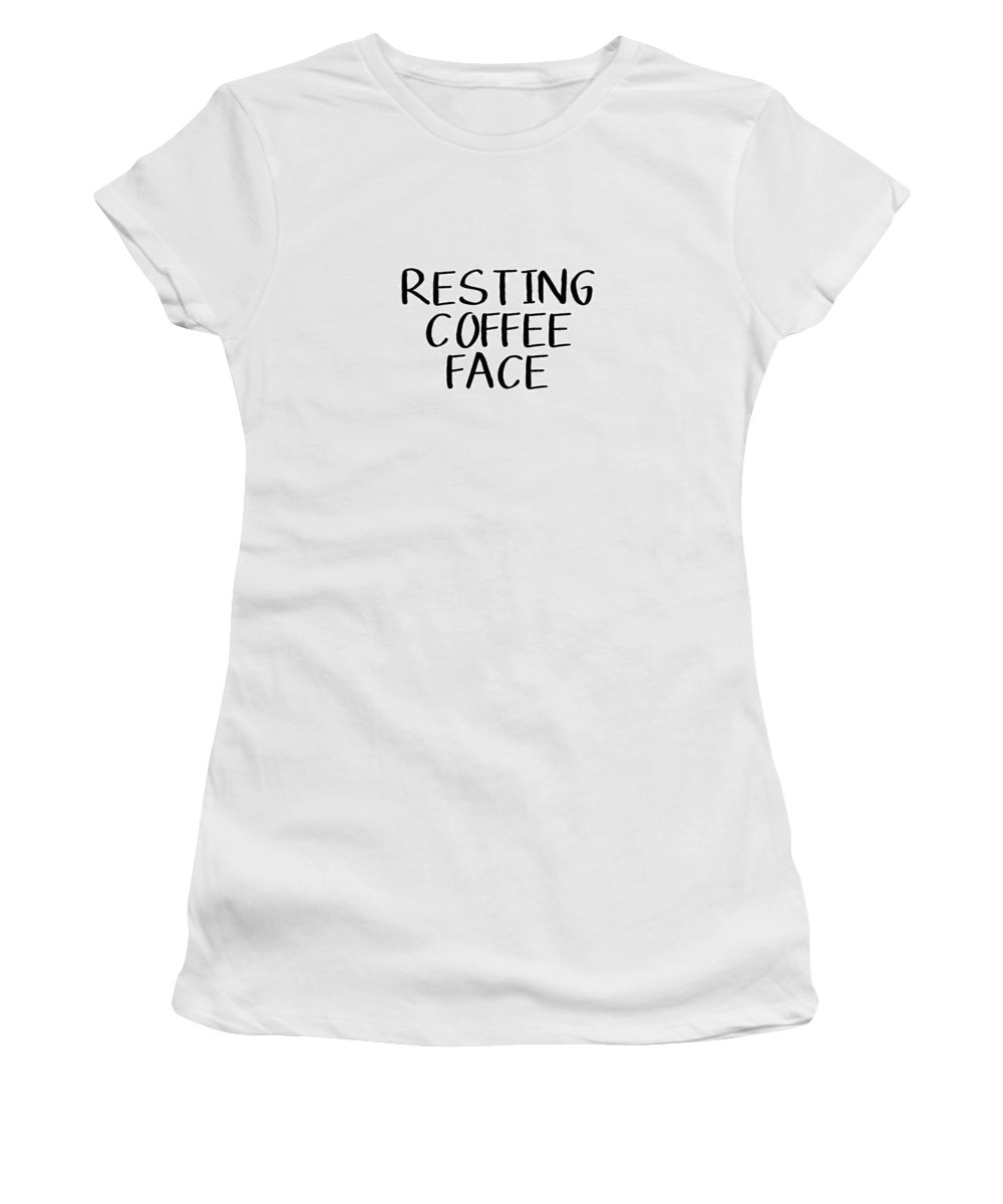Coffee Women's T-Shirt featuring the digital art Resting Coffee Face-art By Linda Woods by Linda Woods
