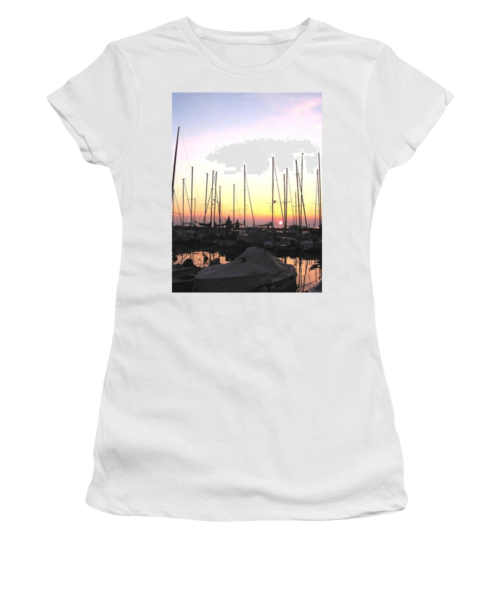 Sea Women's T-Shirt (Athletic Fit) featuring the photograph Resting Place by Dragica Micki Fortuna
