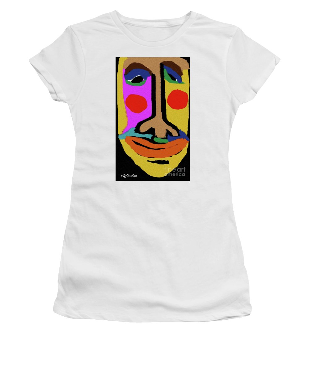 Woman Women's T-Shirt (Athletic Fit) featuring the digital art Retired Make Up Artist by Art by MyChicC