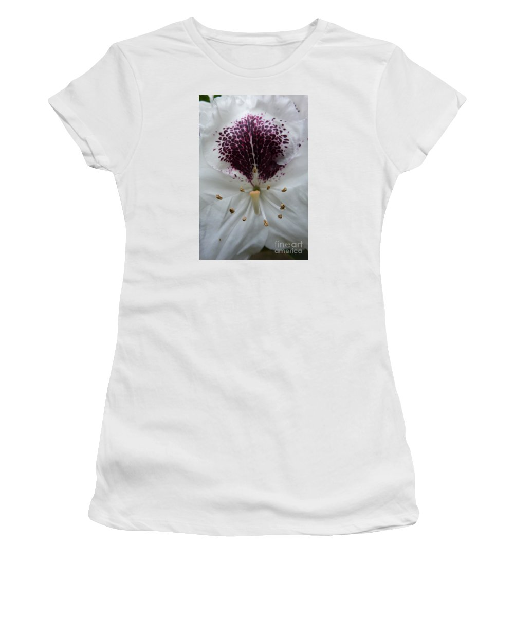 Bloom Women's T-Shirt featuring the photograph Rhododendron 2 by Jean Bernard Roussilhe