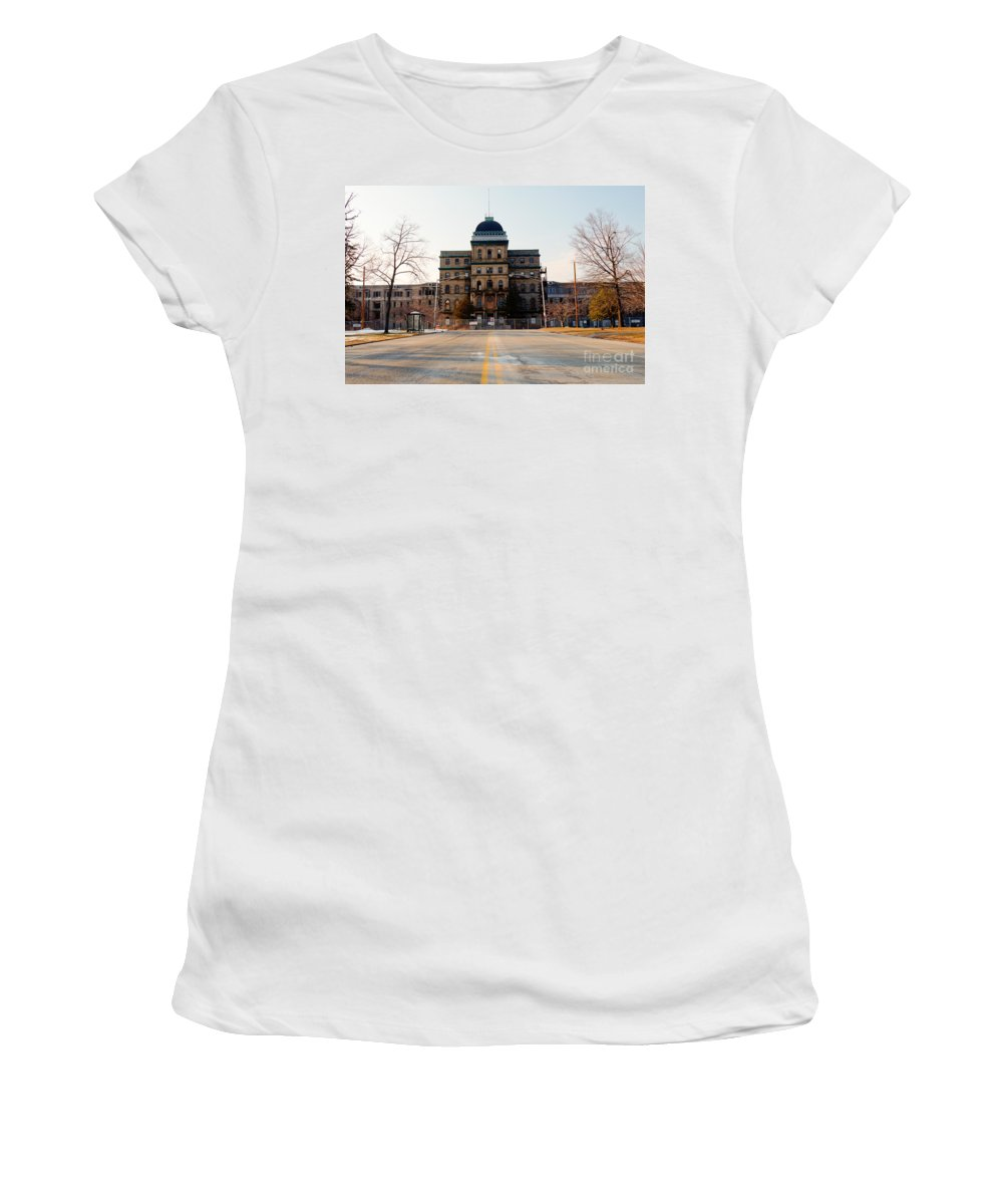Greystone Women's T-Shirt (Athletic Fit) featuring the photograph Road To Greystone by Jeffrey Miklush