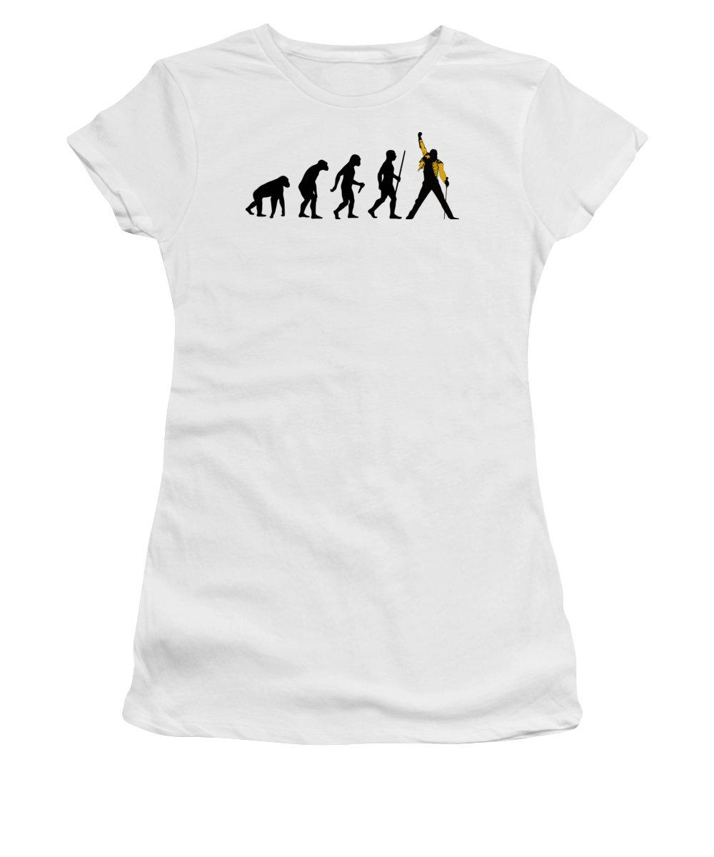Queen Women's T-Shirt featuring the digital art Rock Evolution by Filip Schpindel
