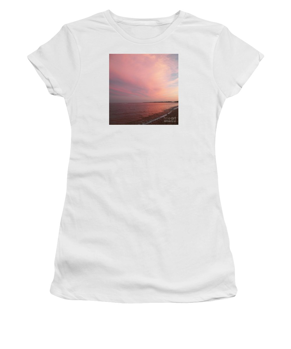 Rockport Women's T-Shirt featuring the photograph Rockport Sunset by Gina Sullivan