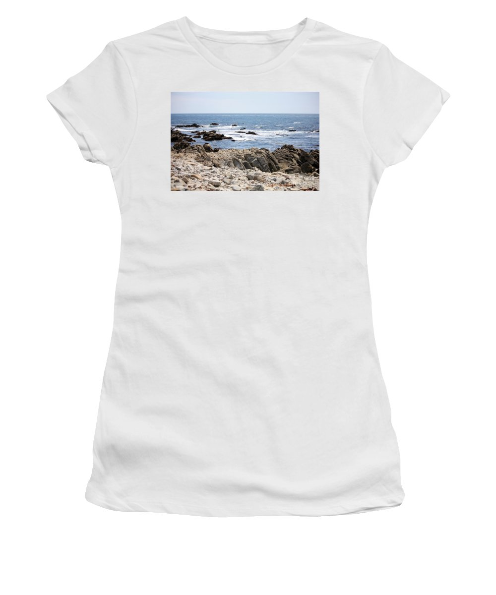 California Women's T-Shirt (Athletic Fit) featuring the photograph Rocky California Coastline by Carol Groenen