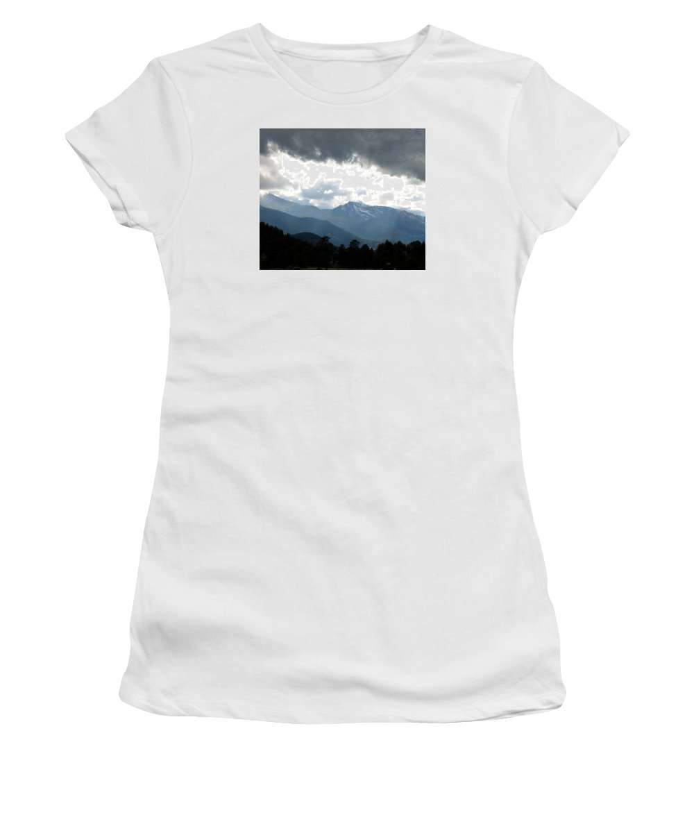 Rockies Women's T-Shirt (Athletic Fit) featuring the photograph Rocky Mts. Mtn M 201 by Sierra Dall