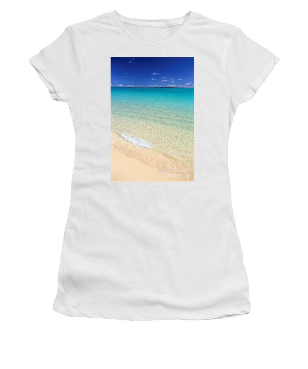 Beach Women's T-Shirt (Athletic Fit) featuring the photograph Rolling On Shore by Dana Edmunds - Printscapes
