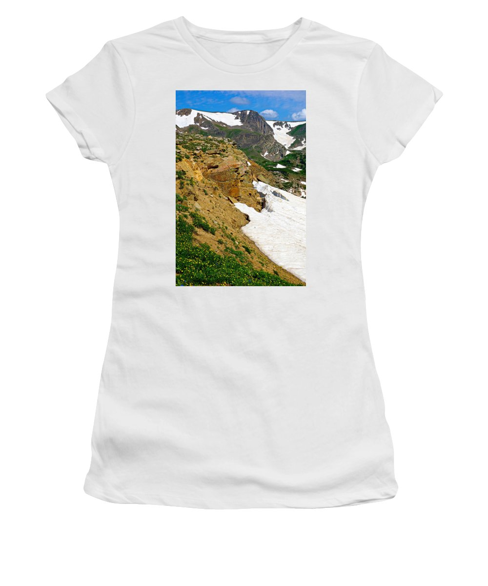 Rollins Women's T-Shirt (Athletic Fit) featuring the photograph Rollins Pass Study 4 by Robert Meyers-Lussier