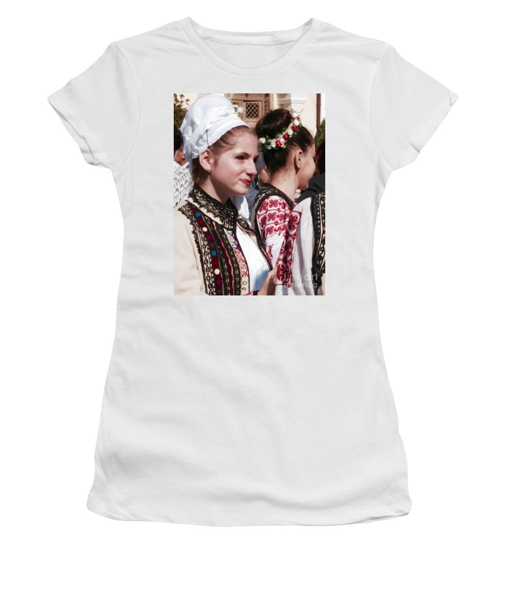 People Women's T-Shirt featuring the photograph Romanian Beauty - 2 by Mioara Andritoiu