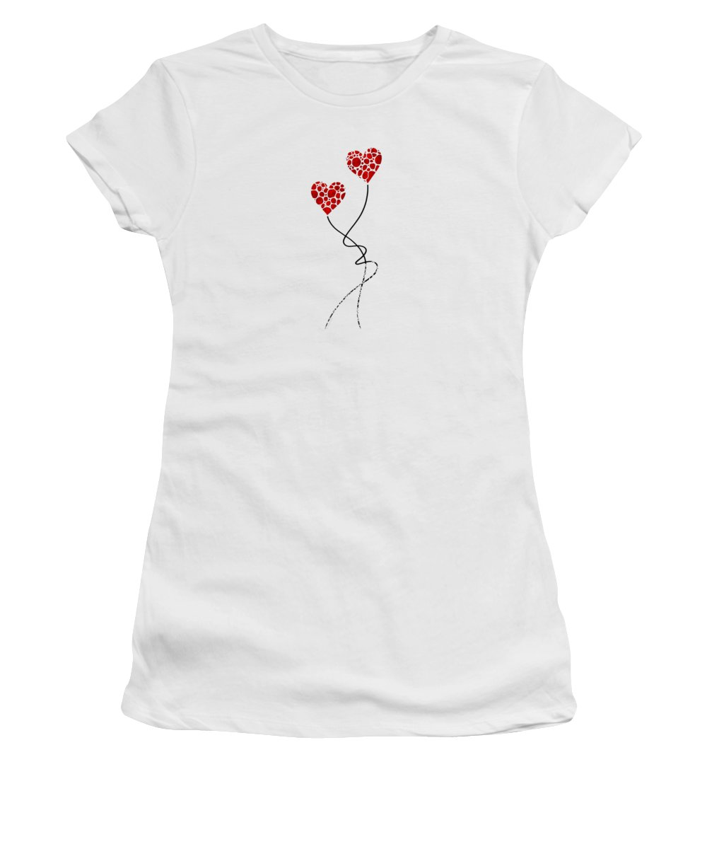 Love Women's T-Shirt featuring the painting Romantic Art - You Are The One - Sharon Cummings by Sharon Cummings