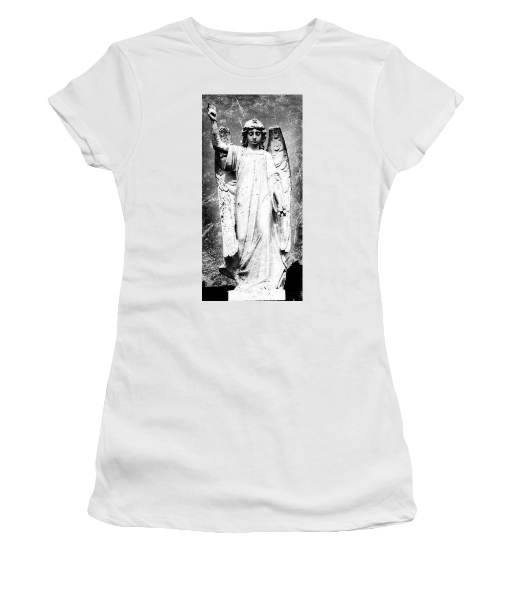 Roscommon Women's T-Shirt (Athletic Fit) featuring the photograph Roscommon Angel No 2 by Teresa Mucha
