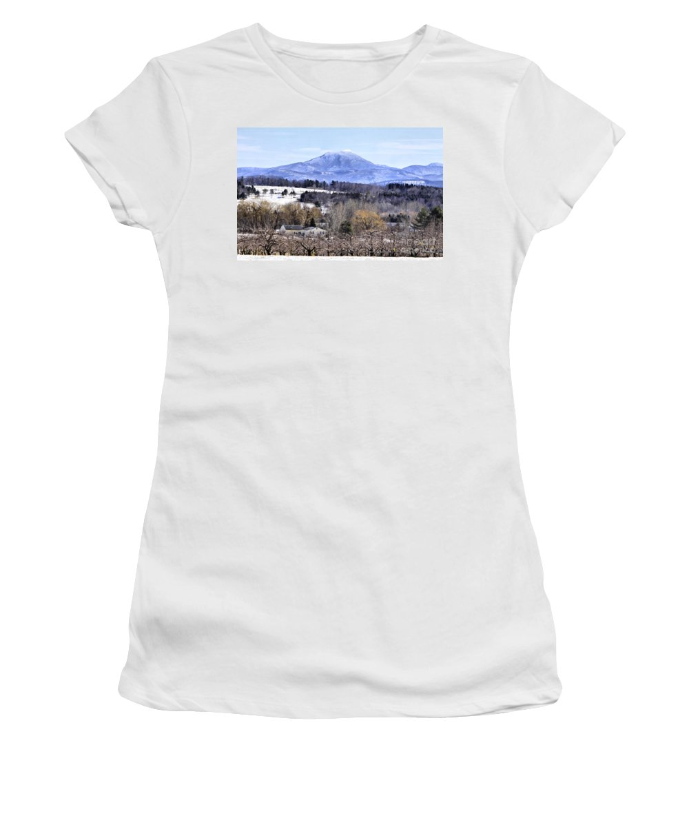Rural Women's T-Shirt (Athletic Fit) featuring the photograph Rural Beauty Vermont Style by Deborah Benoit