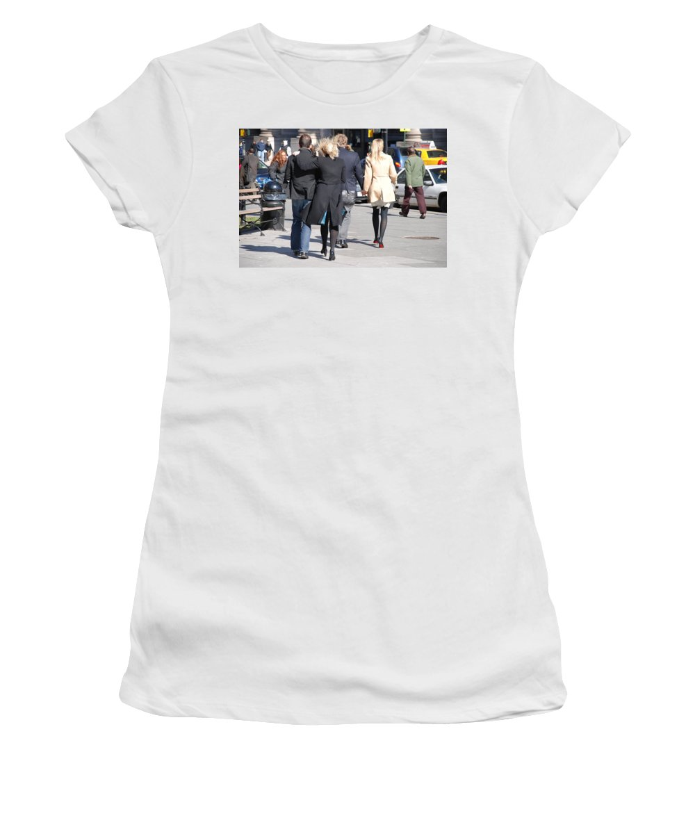 Urban Women's T-Shirt (Athletic Fit) featuring the photograph Rushing To The Alter by Rob Hans