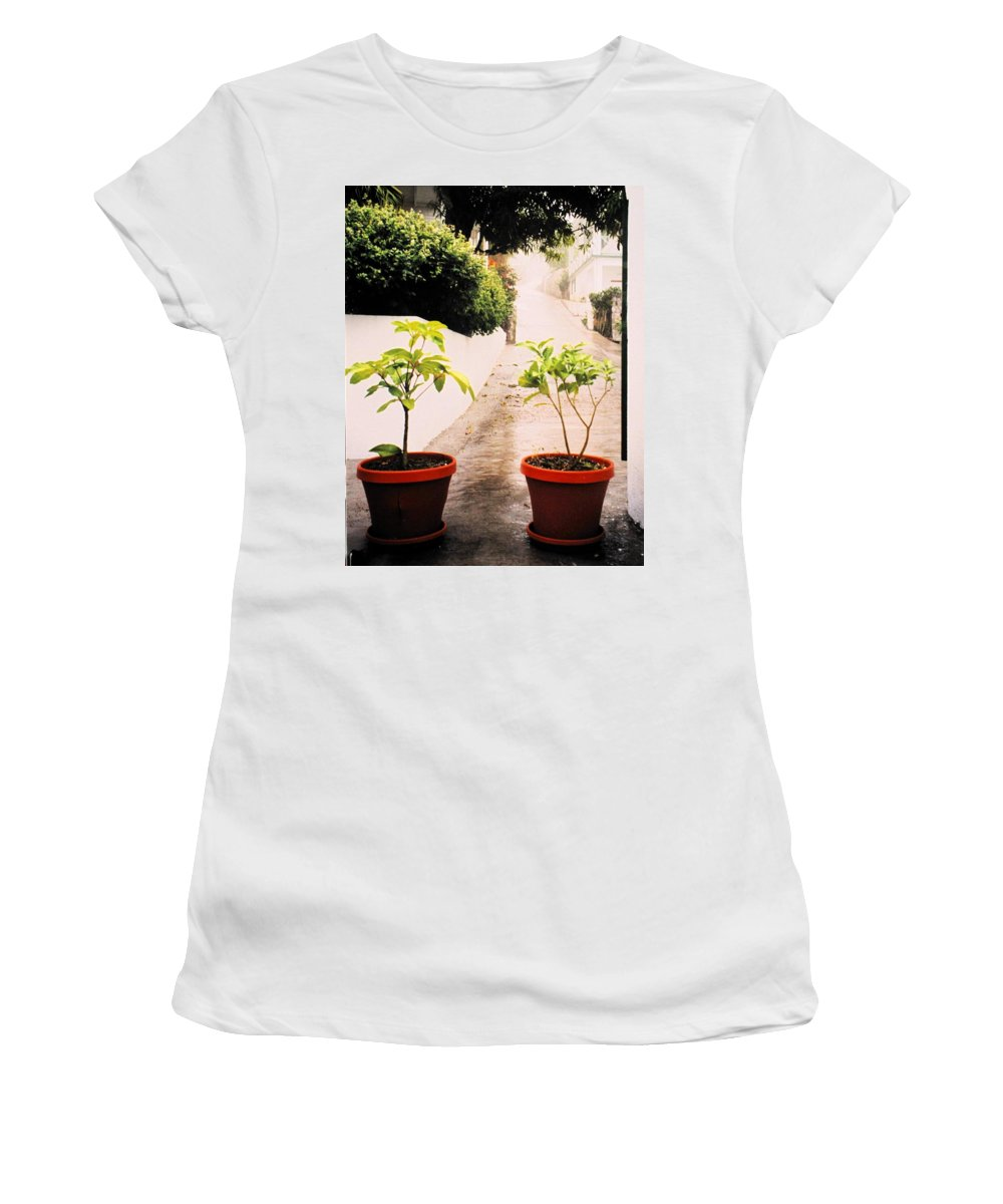 Saba Women's T-Shirt (Athletic Fit) featuring the photograph Saba by Ian MacDonald