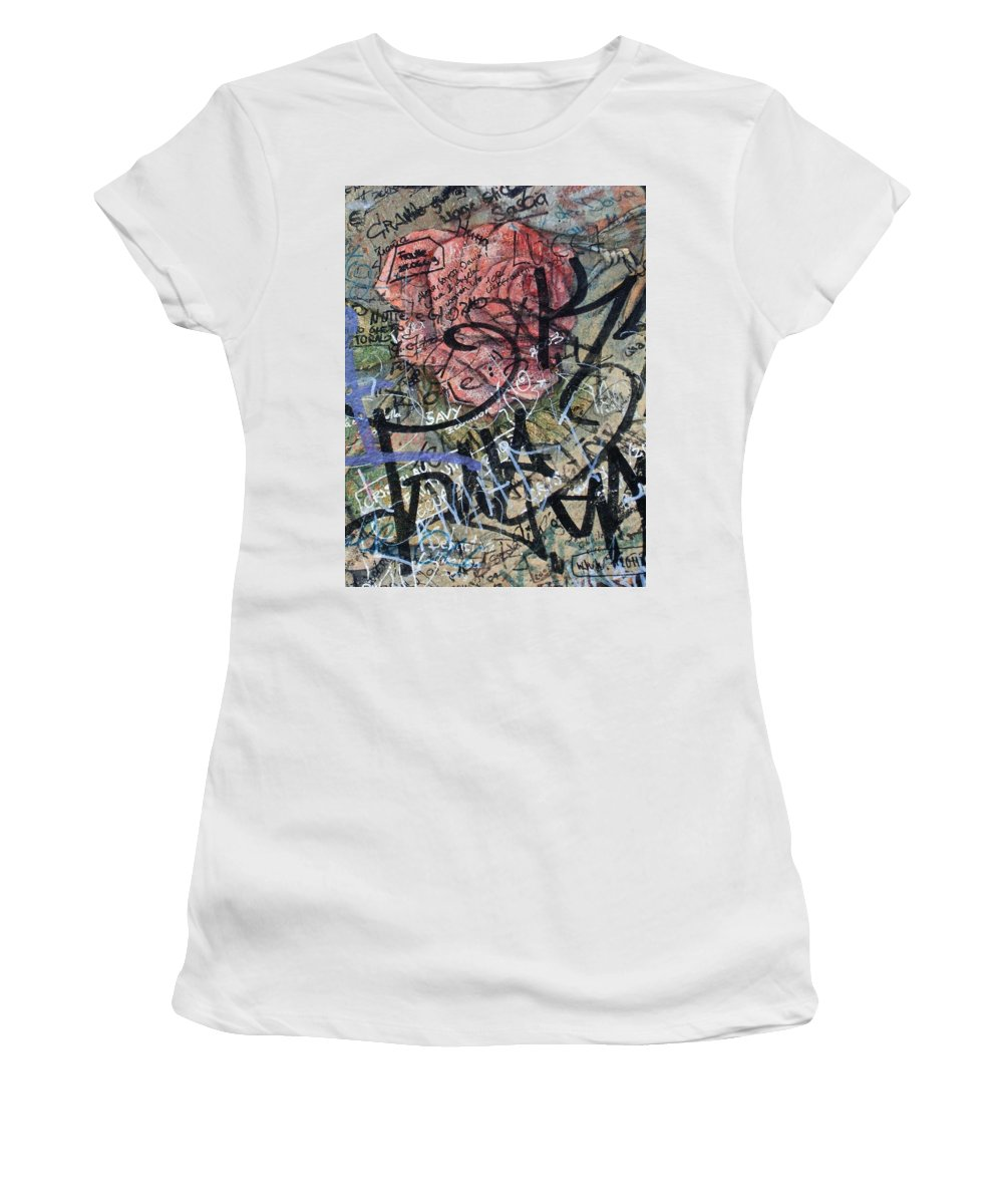 Sad Women's T-Shirt (Athletic Fit) featuring the photograph Sad Rose ... by Juergen Weiss