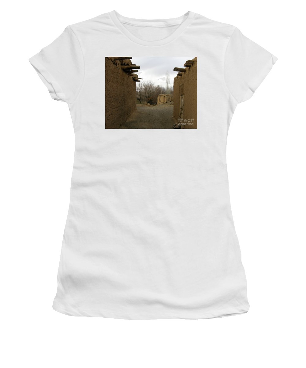 Old Village Women's T-Shirt (Athletic Fit) featuring the photograph Sad Sunday by Sohail Salehi