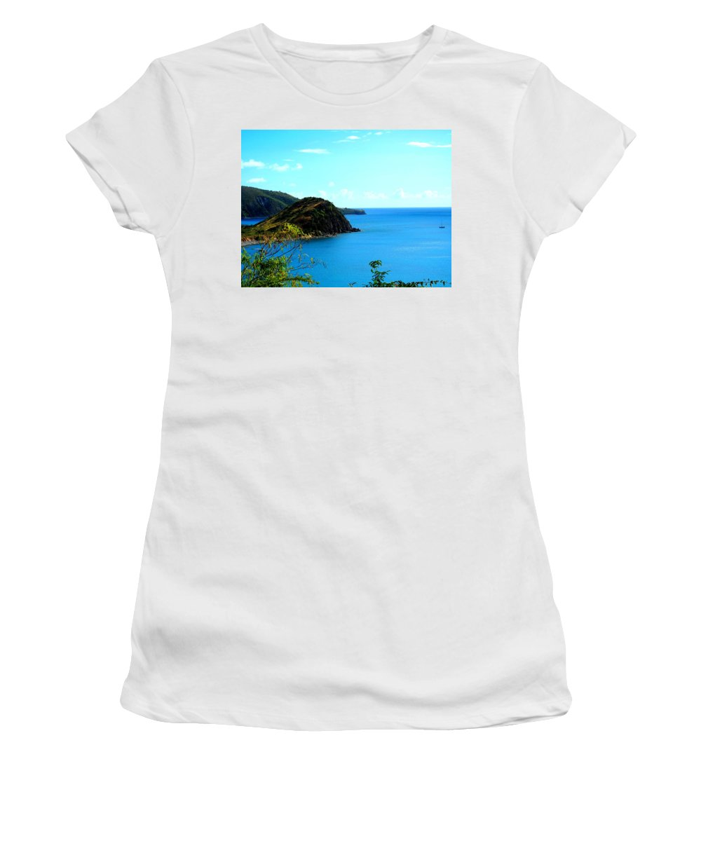St Kitts Women's T-Shirt (Athletic Fit) featuring the photograph Safe Harbor by Ian MacDonald