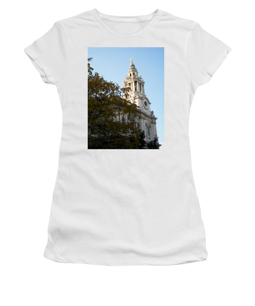 Saint Women's T-Shirt featuring the photograph Saint Paul Church by Munir Alawi