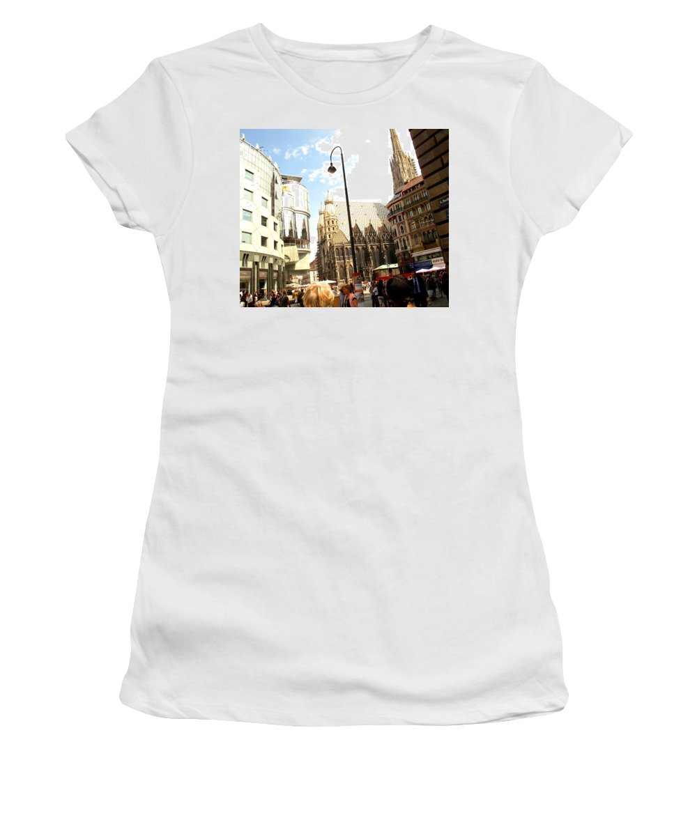 St Women's T-Shirt (Athletic Fit) featuring the photograph Saint Stephen by Ian MacDonald
