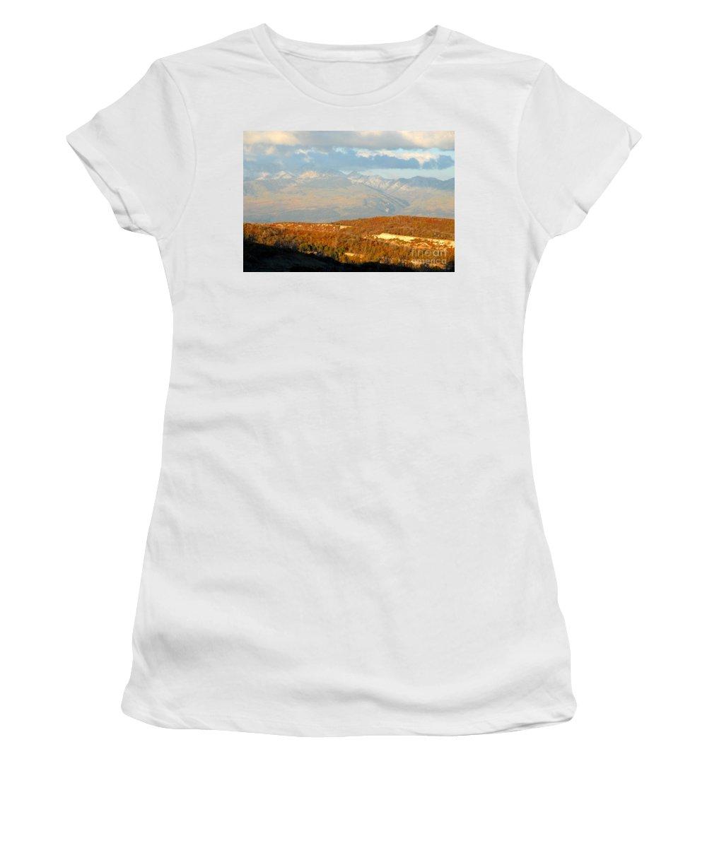 San Juan Mountains Colorado Women's T-Shirt (Athletic Fit) featuring the photograph San Juan Mountains by David Lee Thompson