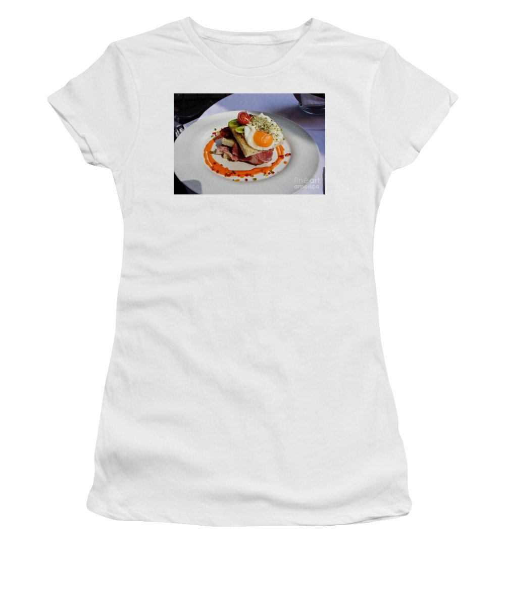 Sandwich Women's T-Shirt (Athletic Fit) featuring the photograph Sandwich by Thomas Marchessault