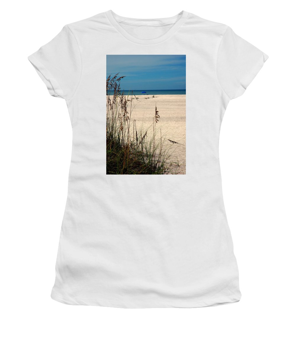 Sanibel Island Women's T-Shirt (Athletic Fit) featuring the photograph Sanibel Island Beach Fl by Susanne Van Hulst
