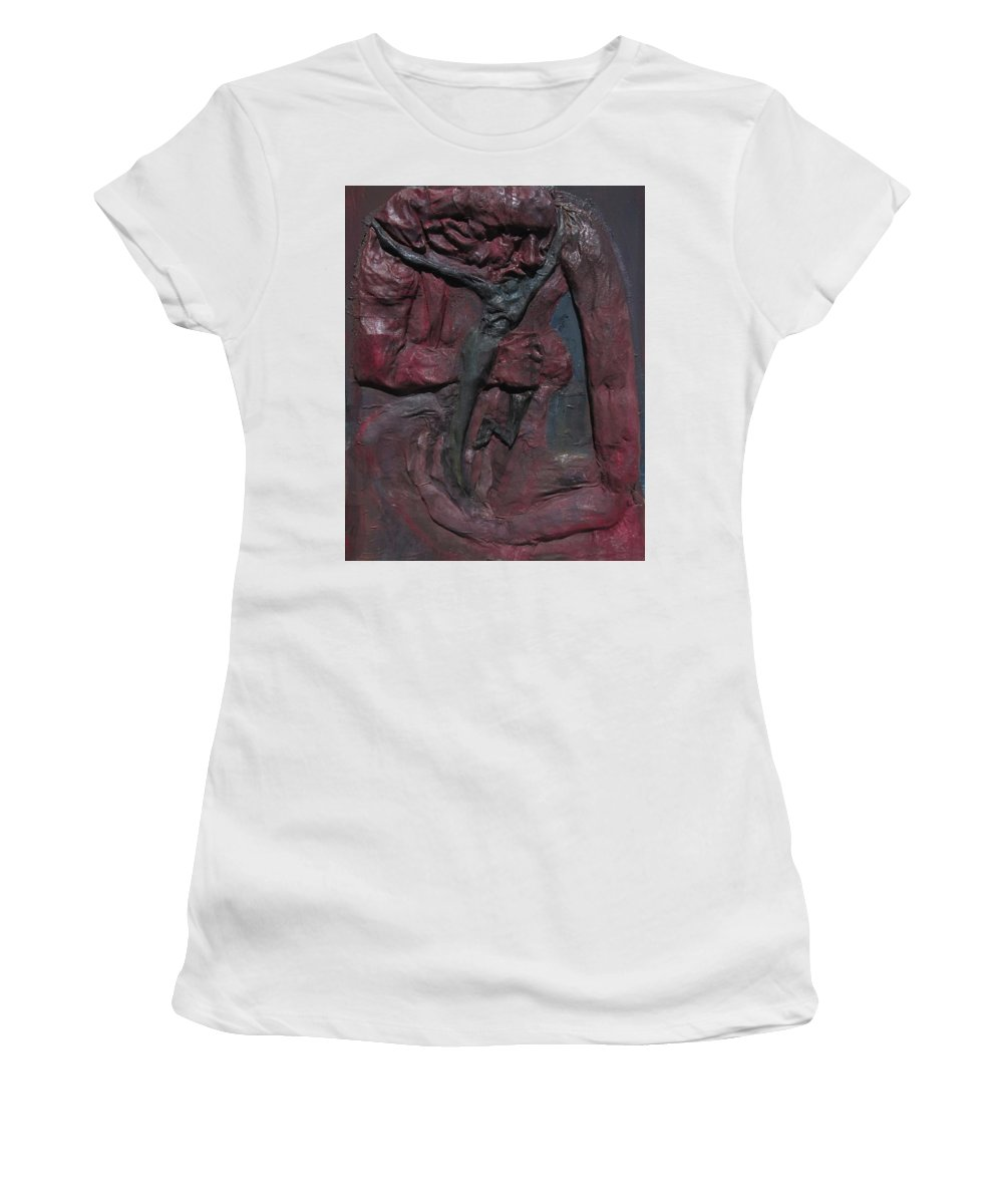 Women's T-Shirt featuring the mixed media Sapiens by Daniele Baiamonte