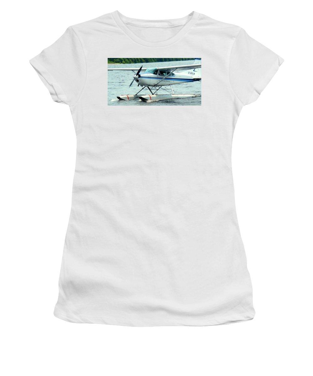 Airplane Women's T-Shirt featuring the photograph Seaplane by Ian MacDonald