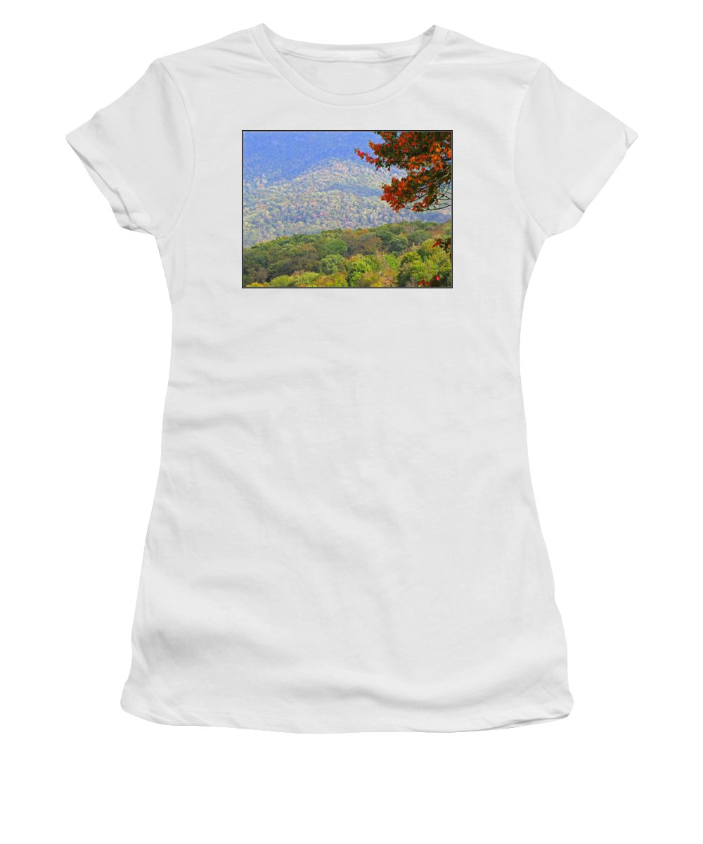Fall Women's T-Shirt (Athletic Fit) featuring the photograph Seasonal Color by Gary Adkins