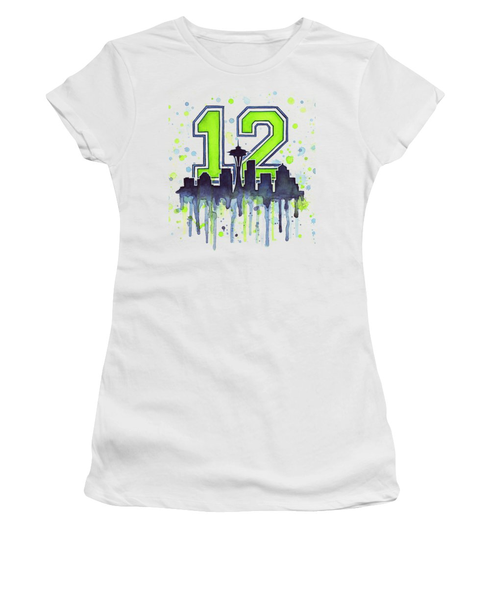 Seattle Skyline Junior T-Shirts