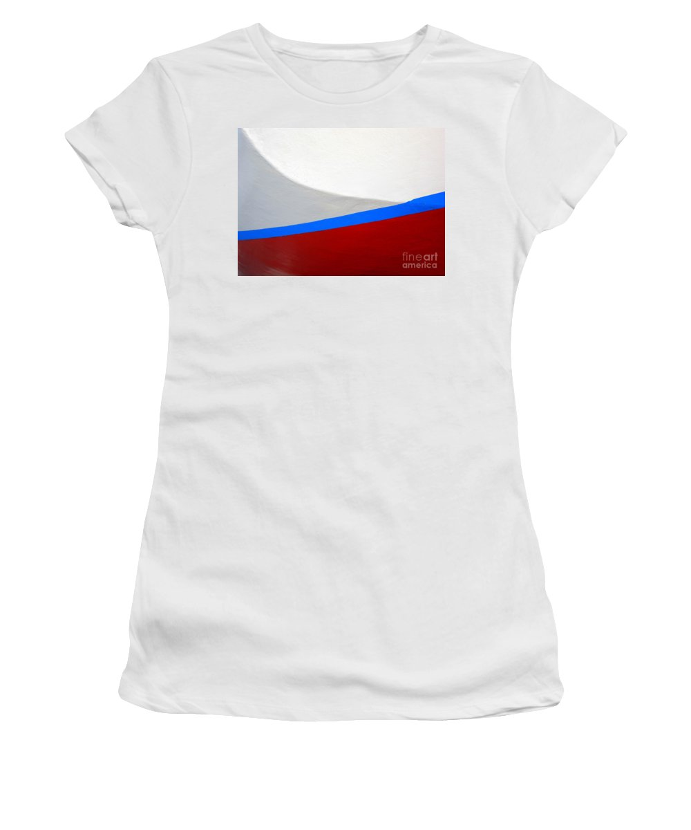 Boat Women's T-Shirt (Athletic Fit) featuring the photograph Seaworthy by Carol Groenen