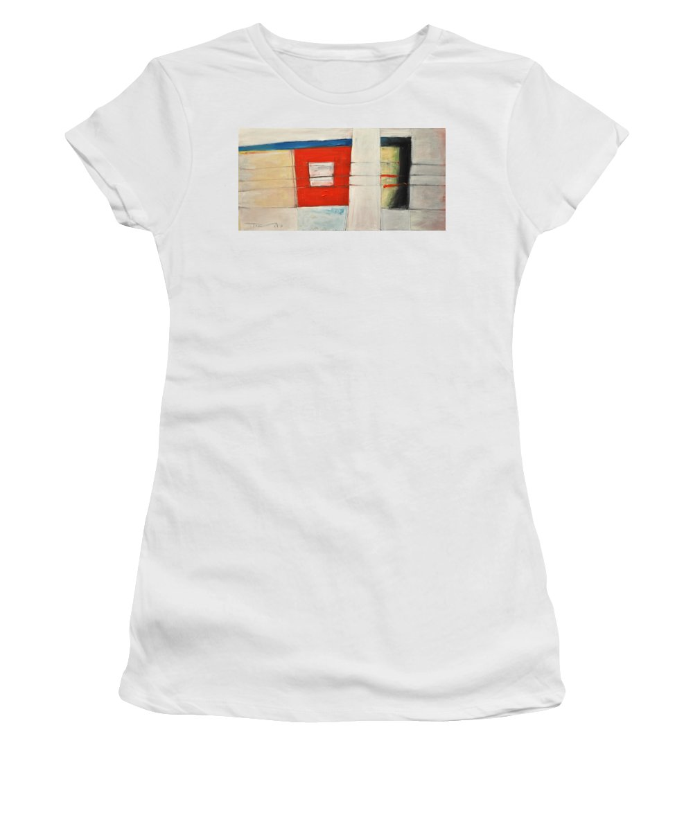 Abstract Women's T-Shirt (Athletic Fit) featuring the painting Section 710 by Tim Nyberg